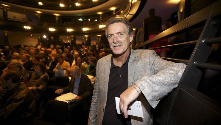 Wim Distelmans tijdens de uitreiking van de LEIFtime Achievement Award. Beeld BELGA