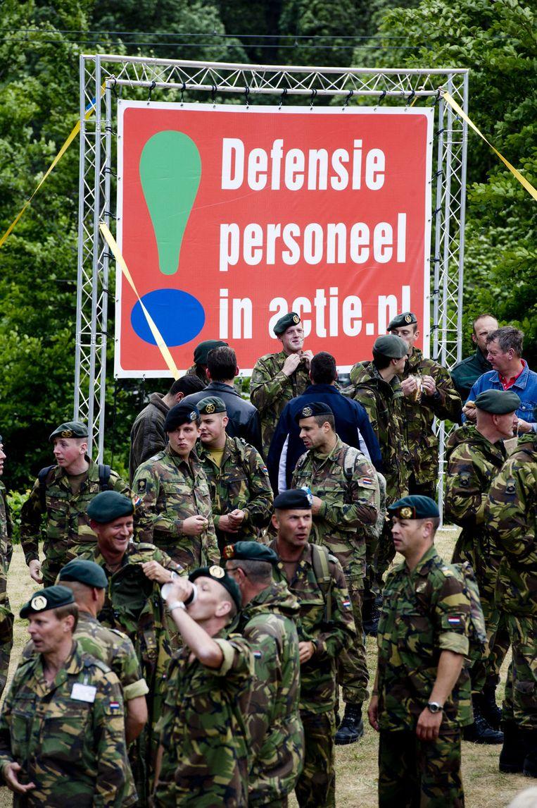 Vijfduizend militairen hebben zich in Den Haag verzameld. © ANP Beeld