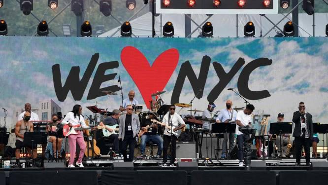 Orkaan verpest megaconcert voor New Yorkers die einde van lockdown vieren