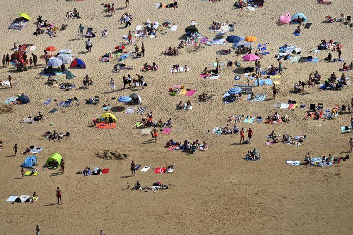 La plage de Knokke, ce dimanche.
