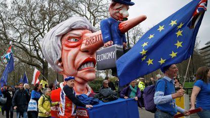 """LIVESTREAM. Tienduizenden Britten op straat tegen de brexit: """"Het is onze generatie die moet leven met de gevolgen van deze ramp"""""""