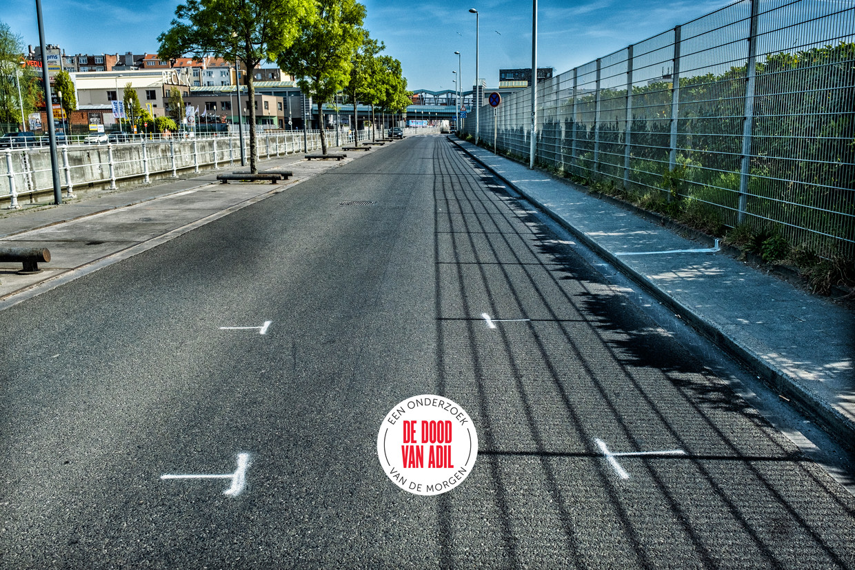 De Nijverheidskaai in Anderlecht, waar het ongeval gebeurde. Beeld Tim Dirven