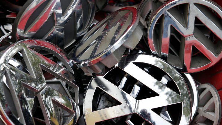 Logo's van Volkswagen. Beeld ap