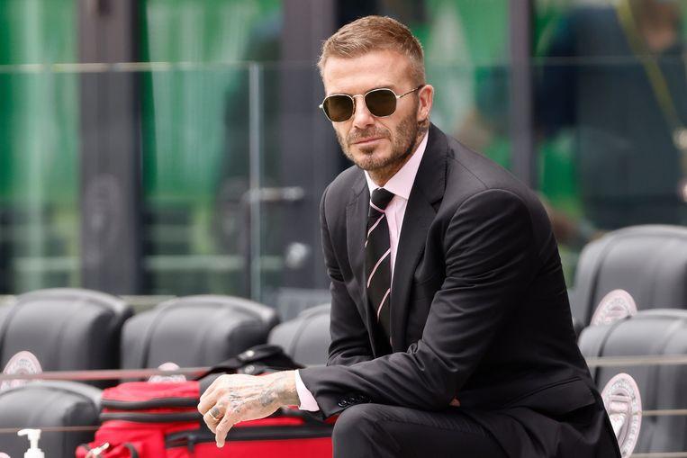 David Beckham in mei bij een wedstrijd van Inter Miami tegen Atlanta United. Beeld Getty