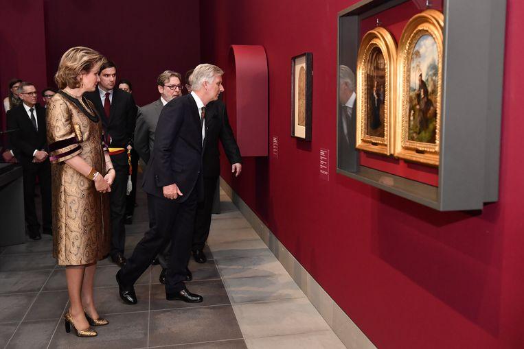 Eind januari bezochten koning Filip en koningin Mathilde 'Van Eyck. Een optische revolutie' in het Gentse MSK. In totaal werden er zo'n 273.000 tickets verkocht. Beeld BELGA
