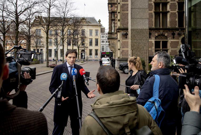 Het CDA van Wopke Hoekstra zal gaan meeformeren terwijl de evaluatie van de verkiezingsnederlaag nog in volle gang is. Beeld ANP