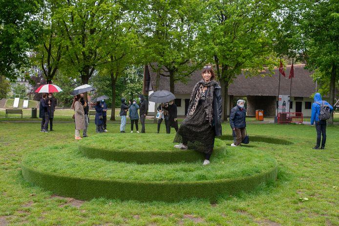 Het kunstwerk van Sara Greet Gilis voor het Olympisch Kunstenparcours in het Kielpark.
