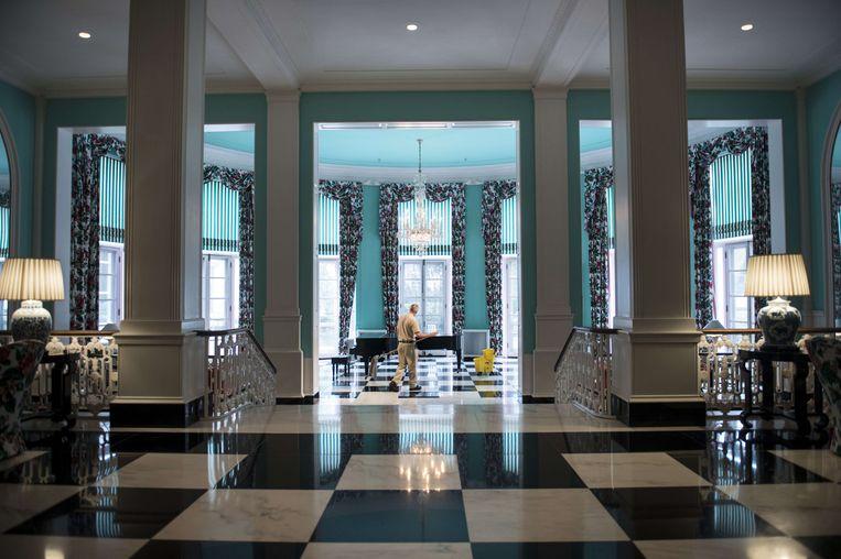 De lobby van het Greenbrier-hotel. Beeld AFP