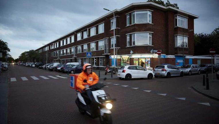 De Vreeswijkstraat in Den Haag, waar de auto van de vrouw werd gevonden. Beeld anp