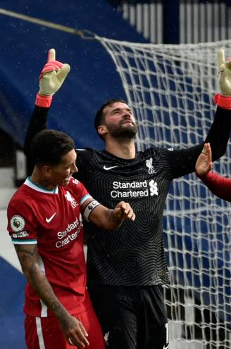 Doelman Alisson bezorgt Liverpool in extremis de overwinning tegen West Bromwich Albion