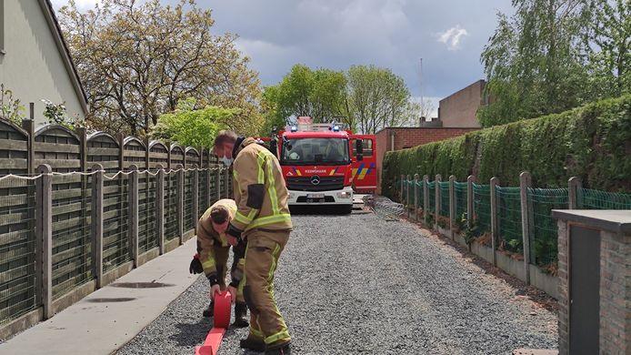 De brand werd gelukkig tijdig opgemerkt door een alerte buurman
