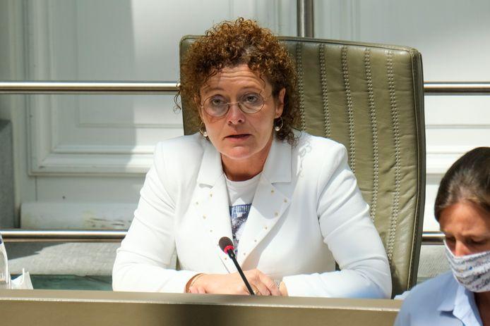 De Vlaamse minister van Mobiliteit en Openbare Werken Lydia Peeters (Open Vld).
