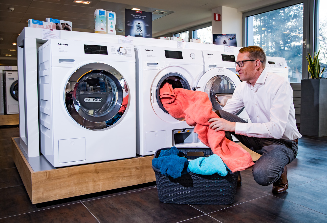 Kris Hellebuyck, academy manager bij wasmachinefabrikant Miele.