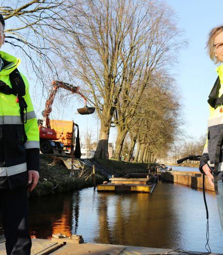 Singels in Breda moeten nodig gebaggerd worden 'De woonboten hangen scheef in het zand'
