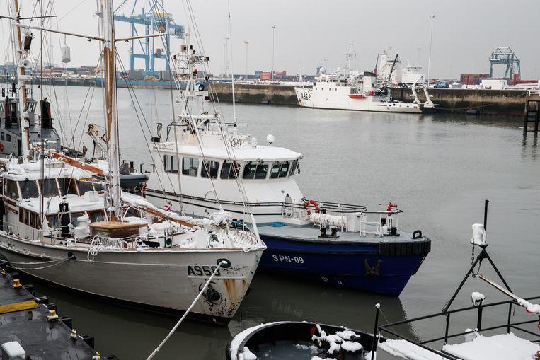 De haven van Zeebrugge.