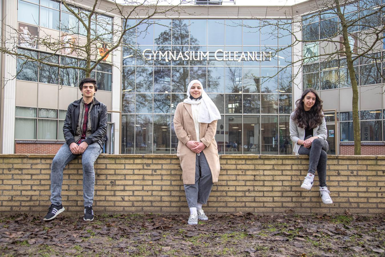 Van links naar rechts: Hamza Al Ryabi, Dana Alkarrad en Nirmien Al-Taher.