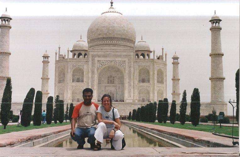 Trekpleister, Taj Mahal, Truke Fortuin en Laxman Thapa 20 juli 2003 Beeld null