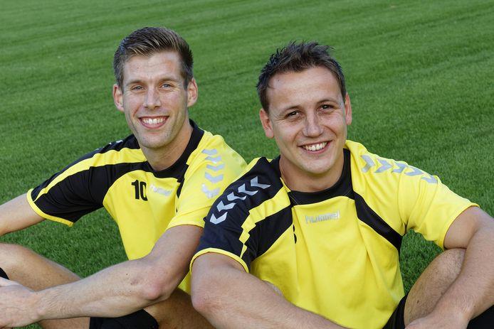 Wesley Diepens (links) en Gijs van Baast (rechts) genieten van hun tijd bij Nemelaer.
