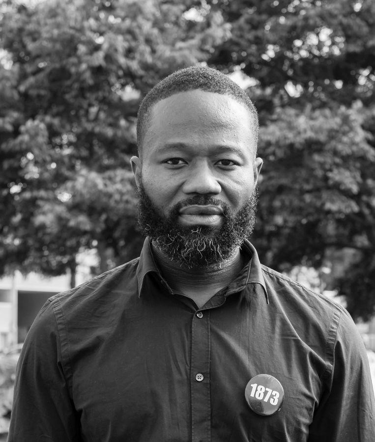 Mensenrechtenactivist Jerry Afriyie. Beeld Isaac Owusu