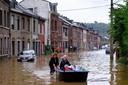 Overstromingen in Angleur, bij Luik afgelopen maand.