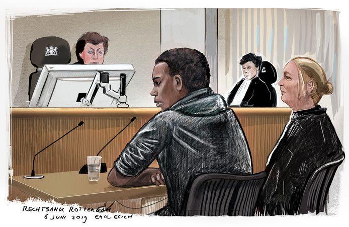 Gerson F. tijdens de eerdere rechtszaak.