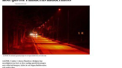 Rode lampjes rond Kraenepoel Aalter halen zelfs Zweedse pers