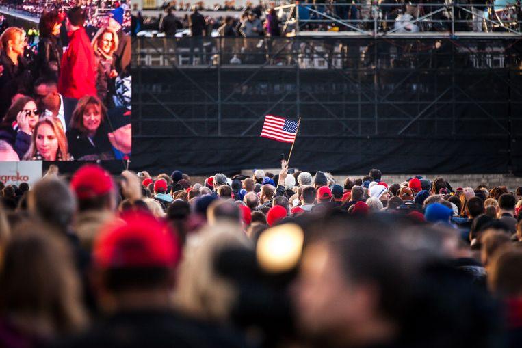 Toeschouwers bij de inauguratie van Donald Trump. Beeld ANP