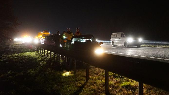 Ongeval op de A1 tussen Hengelo en Apeldoorn.