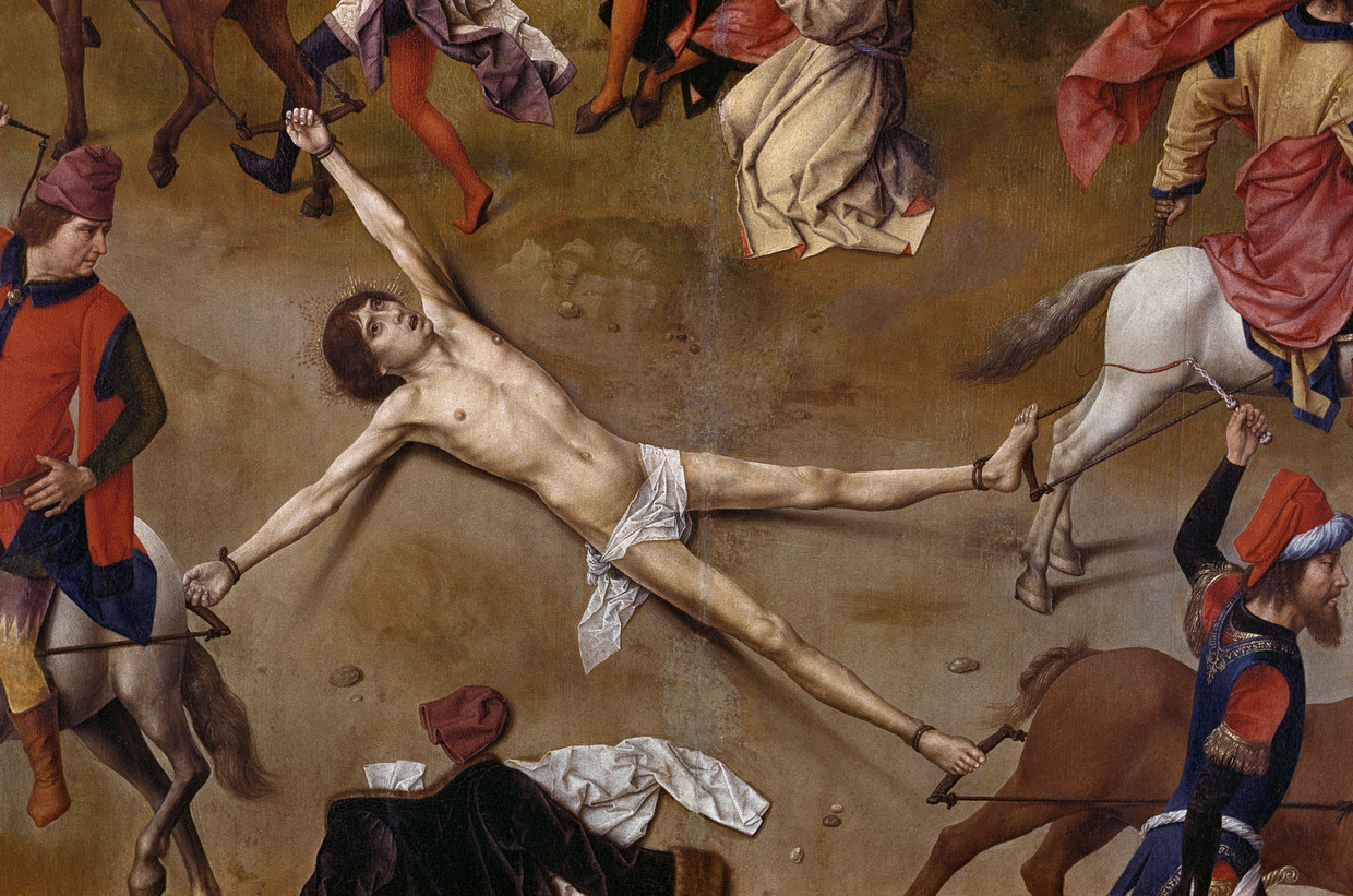 ROYAL HISTORY'S MYTHS AND SECRETS Detail of Saint Hippolytus from Central Panel of Martyrdom of Saint Hippolytus by Dieric Bouts the Elder   (Photo by Francis G. Mayer/Corbis/VCG via Getty Images) Beeld Corbis/VCG via Getty Images