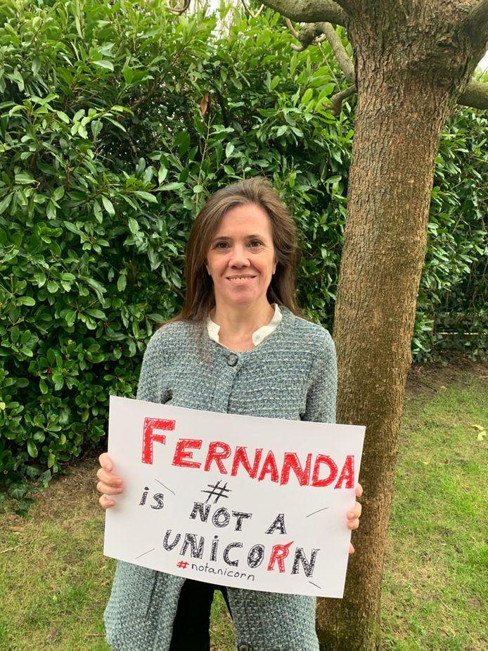 Fernanda Aspilche uit Lievegem is het gezicht van een campagne om zeldzame ziektes in de kijker te zetten.