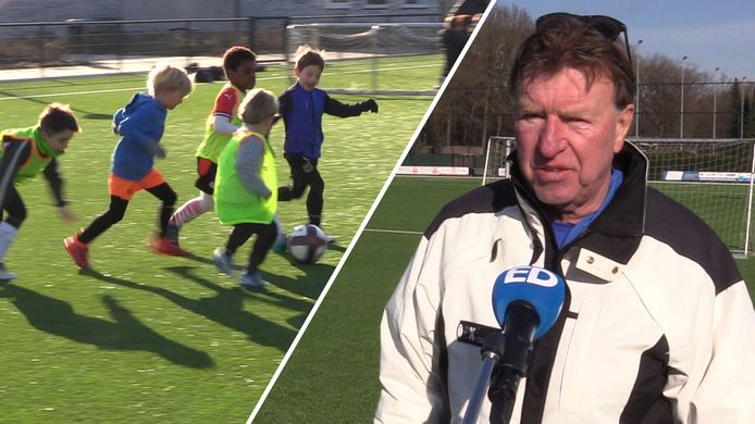 Aad de Mos, oud-trainer van onder andere PSV en Ajax, staat af en toe weer even langs de lijn. Deze keer niet voor een profclub, maar voor de kinderen van RPC Eindhoven. Ook zijn kleinzoon krijgt hier training van 'Opa Aad'.