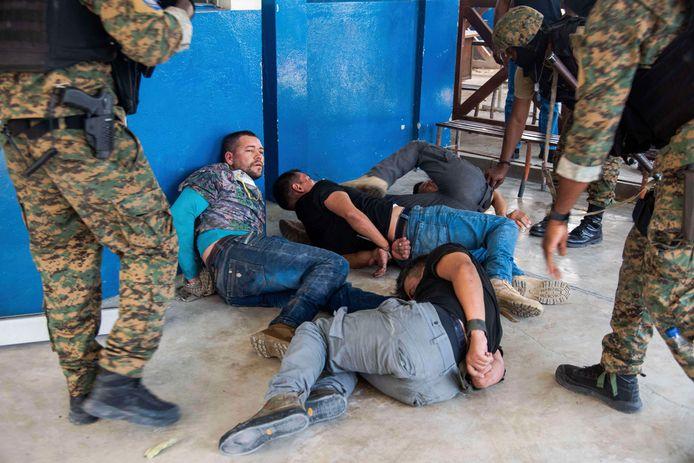 Verdachten van de moord op de Haïtiaanse president worden aangehouden.