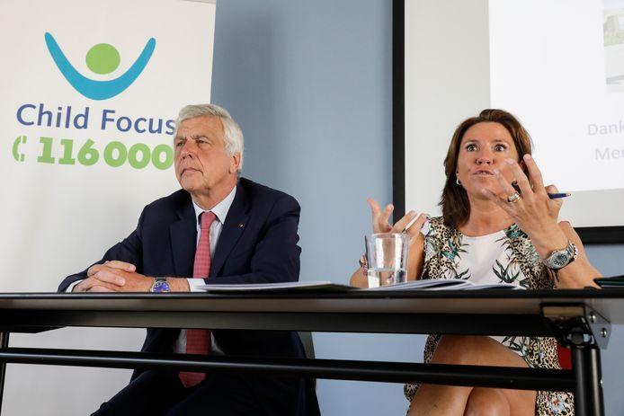 Child Focus-voorzitter Francois Cornelis en Child Focus-CEO Heidi De Pauw.