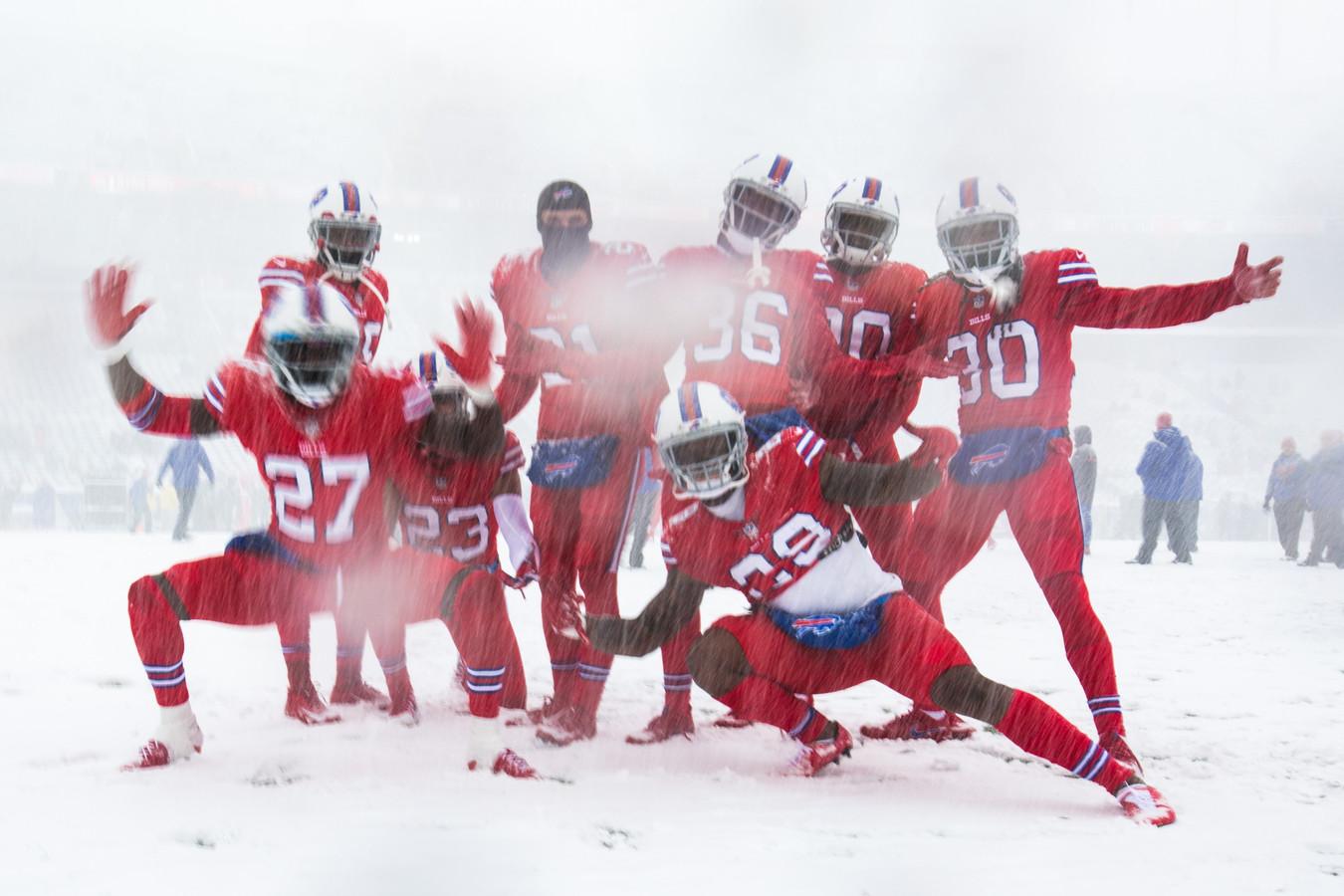 De spelers van de Buffalo Bills.