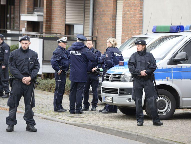 Duitse politie in het plaatsje Alsdorf Beeld anp