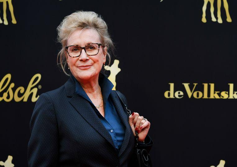 Beppie Melissen, de oma in Kapsalon Romy, won het Kalf voor beste actrice. Beeld ANP