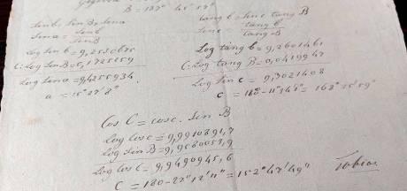 Papiermaker Tobias liet niet alleen 'oud papier' na, maar ook raadselachtige berekeningen