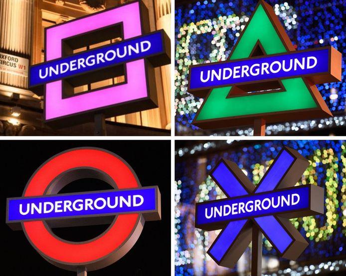 """Le métro de Londres rhabille l'iconique """"underground"""" pour la sortie de la nouvelle console."""