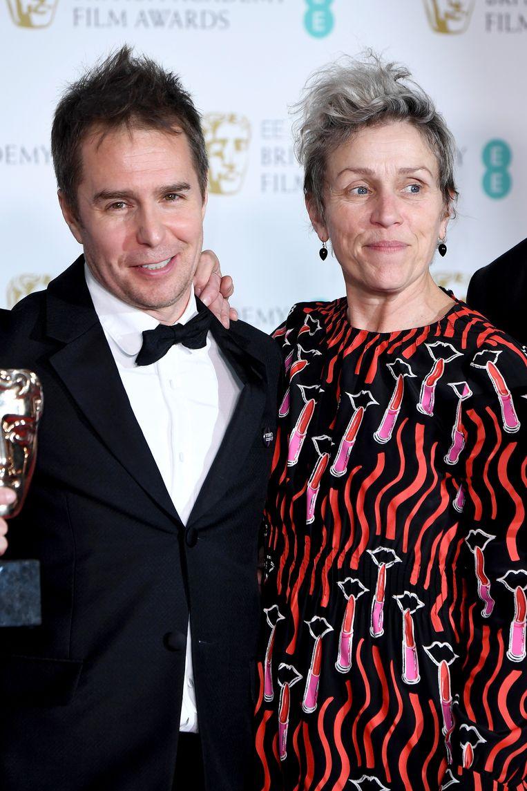 Sam Rockwell en Frances McDormand. Beeld Jeff Spicer/Getty Images