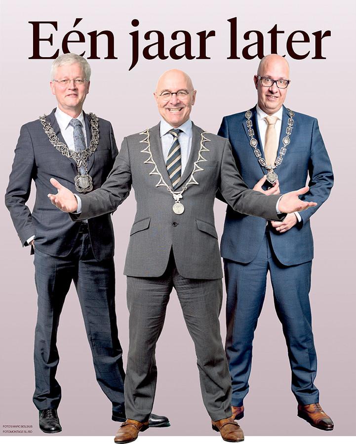 Burgemeesters Theo Weterings van Tilburg,  Kees van Rooij van Meierijstad en Jack Mikkers van Den Bosch (v.l.n.r)