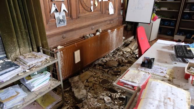 Plafond Hof van Cassatie in Brussels justitiepaleis ingestort, twee gewonden door omvallende kasten bij Hof van Beroep