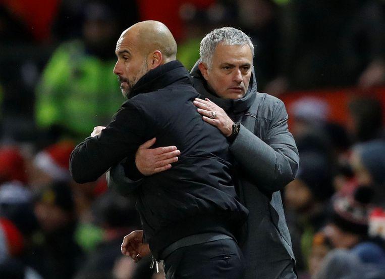 Korte felicitaties van Mourinho voor Guardiola.