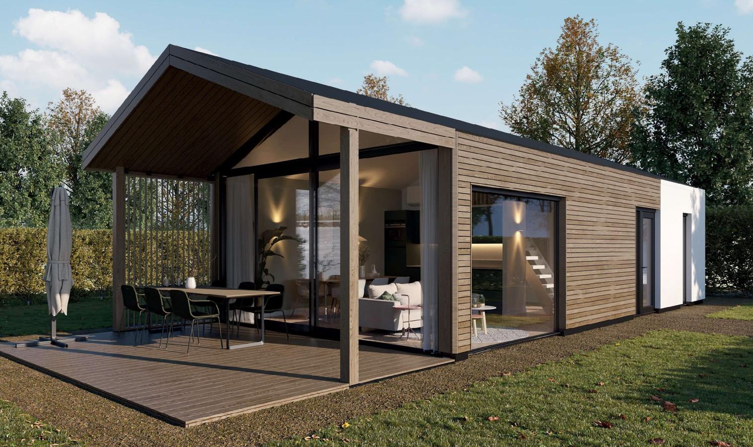 Impressie van een als vakantiehuisje te verhuren lodge voor 6 personen op Streekpark Klein Oisterwijk
