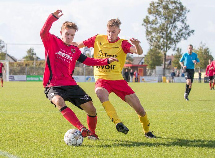 Yerseke (rode shirts) was met 1-7 te sterk voor 's-Heer Arendskerke.