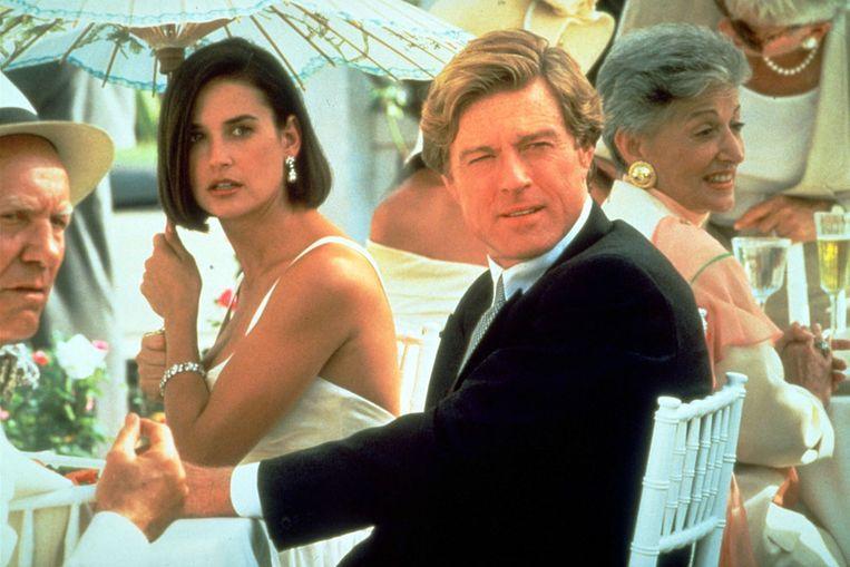 Demi Moore en Robert Redford in de film 'Indecent Proposal', de enige film waarin hij een slechterik vertolkte.  Beeld Kippa