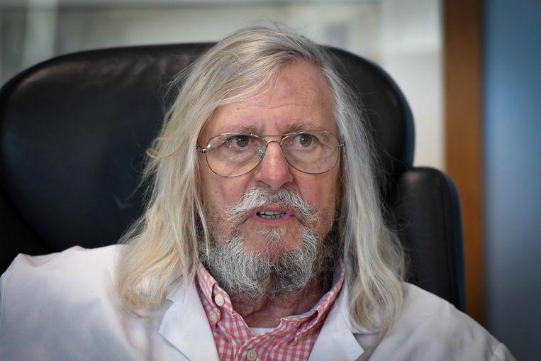 De Franse arts en microbioloog Didier Raoult beweert hét wondermiddel tegen corona  te hebben ontdekt. Beeld AFP