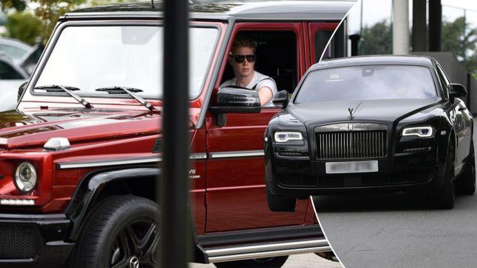 Les Diables Rouges fans de voitures de luxe.