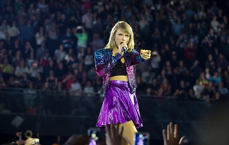 Swift tijdens het concert in het Ziggo Dome gisterenavond. Beeld ANP Kippa