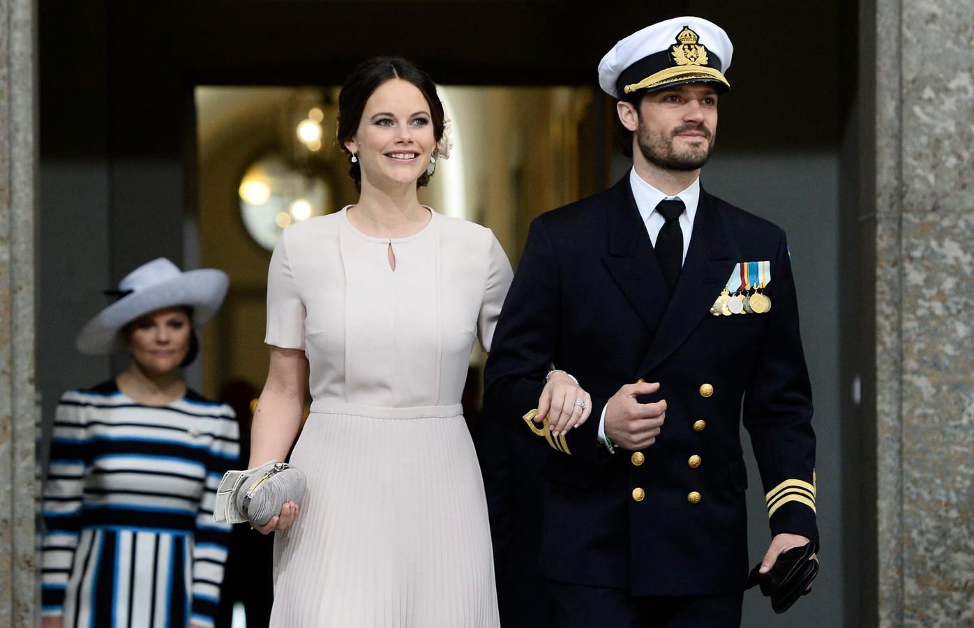 De Zweedse prinses Sofia en haar echtgenoot.