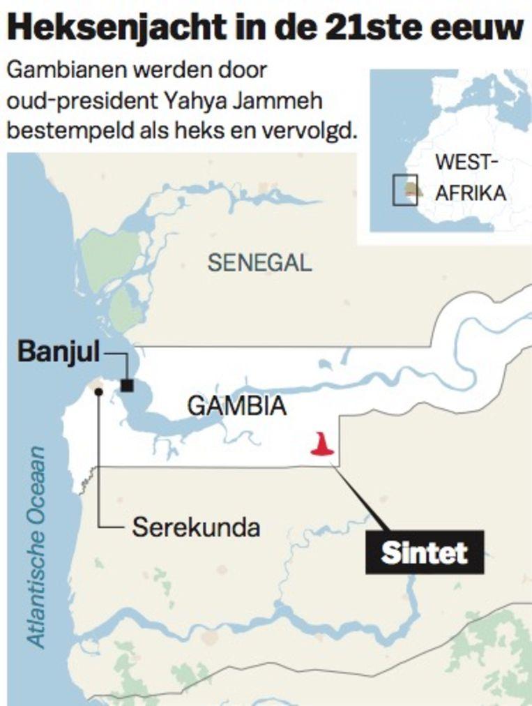 Heksenjacht in Gambia Beeld MAPS4NEWS © LVDB/HET PAROOL